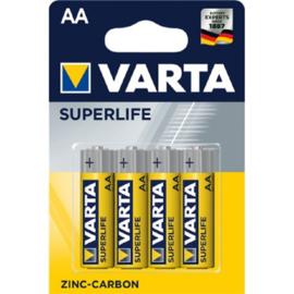 VARTA SUPERLIFE AA - 4 STUKS - R6 1,5V