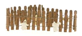 Ghostie Wire Wooden Fence