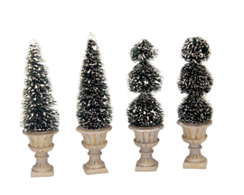 Cone-Shaped & Sculpted Topiaries, Set Of 4