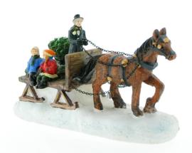 Paard met slee