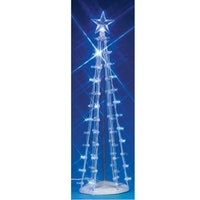 9'' Lighted Silhouette Tree, Blue