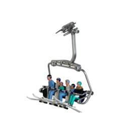 Pack of 6 figures with Head Ski - 6 pieces – without seater - fit in all cabins & seats