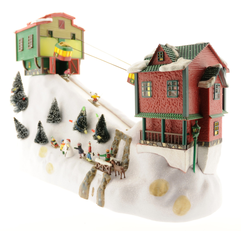 2021 Christmas Cable Car Mr Christmas Winter Wonderland Moving Cable Cars Mr Christmas Kerstdorpfan Nl