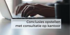 Conclusie met consultatie op het kantoor te Balen