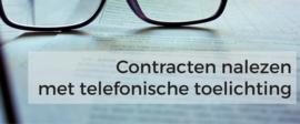 Contract nalezen per e-mail met telefonische toelichting