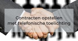 Contract opstellen per e-mail met telefonische toelichting