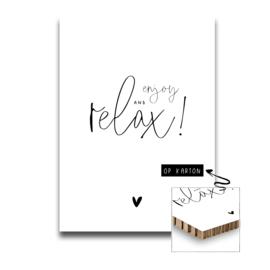 Karton - Enjoy and relax / A4 formaat