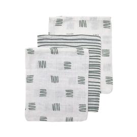 Washandjes - Block/stripe groen