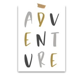 Print Canvas | Adventure | grey-ish