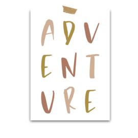 Print Canvas | Adventure | old pink