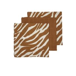 Monddoekjes - Zebra Camel bruin