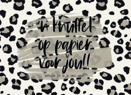 Kaart | Knuffel op papier