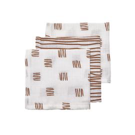 Monddoekjes - Block/stripe camel