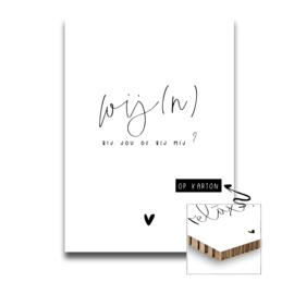 Karton - Wij(n) / A4 formaat