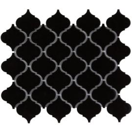 Mozaiek Lantaarn Mat Zwart Geglazuurd Porselein TMF Paris PALM925