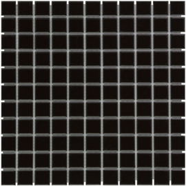 Mozaiek Geglazuurd Porselein Zwart 23x23mm TMF Barcelona AF230317