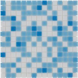 Glasmozaiek Licht Blauwe Mix  TMF Amsterdam GMBB01