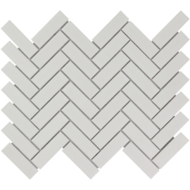 Mozaiek Visgraat Mat Wit Geglazuurd Porselein TMF Paris PAHM140