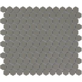 Mozaiek Hexagon Donker Grijs Onverglaasd Porselein 23x26mm TMF London LOH2015