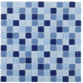 Glasmozaiek Helder Blauw Mix TMF Montreal MOMIX20
