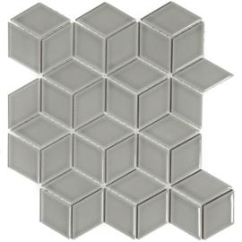 Mozaiek 3D Cubic Grijs Geglazuurd Porselein TMF Paris PACU300