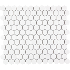 Mozaiek Hexagon Extra Wit 23x26mm  TMF Barcelona AFH23051