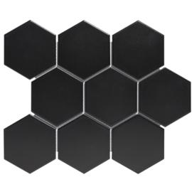 Mozaiek Hexagon Mat Zwart  95x110mm AMH95317