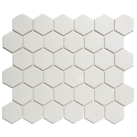 Mozaiek Hexagon Super Wit Onverglaasd Porselein 51x59mm TMF London LOH1010S