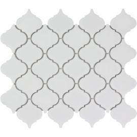 Mozaiek Lantaarn Mat Wit Geglazuurd Porselein TMF Paris PALM140