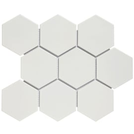 Mozaiek Hexagon Mat Wit 95x110mm 95x110mm AMH95010