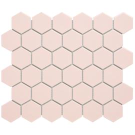 Mozaiek Hexagon Roze 51x59mm TMF Barcelona AFH13072