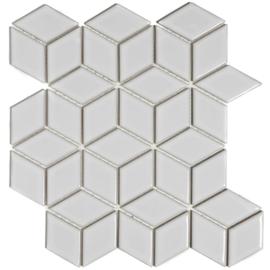 Mozaiek 3D Cubic Extra Wit Geglazuurd Porselein TMF Paris PACU100