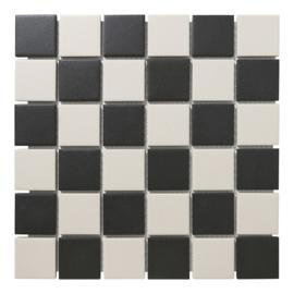Vloer Mozaiek Dambord Onverglaasd Porselein TMF London LO1010/1017