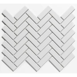 Mozaiek Visgraat Extra Wit Geglazuurd Porselein TMF Paris PAHG100