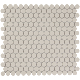 Vloer Mozaiek Rond Wit Onverglaasd Porselein TMF London LOP2010