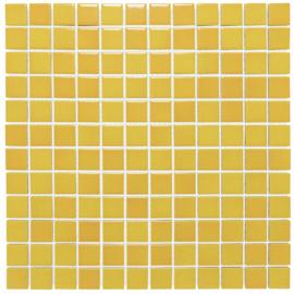 Mozaiek Geglazuurd Porselein Geel Gevlamd 23x23mm TMF Barcelona AF230002