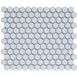 Mozaiek Hexagon Zacht Blauw met rand  23x26mm  TMF Barcelona AFH23450