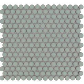 Mozaiek Rond Licht Groen Geglazuurd Porselein TMF Venice VKN500