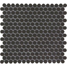 Vloer Mozaiek Rond Zwart Onverglaasd PorseleinTMF London LOP2017