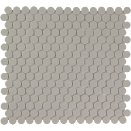 Vloer Mozaiek Rond Grijs Onverglaasd Porselein TMF London LOP2029