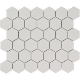 Mozaiek Hexagon Mat Wit 51x59mm TMF Barcelona AMH13010