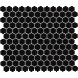 Mozaiek Hexagon Zwart TMF 23x26mm Barcelona AFH23317