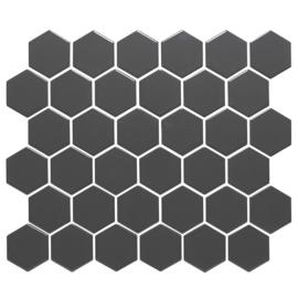 Mozaiek Hexagon Donker Grijs 51x59mm TMF Barcelona AFH13007