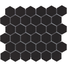 Mozaiek Hexagon Zwart 51x59mm TMF Barcelona AFH13317