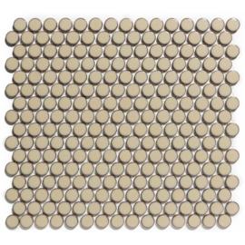 Mozaiek Rond Beige met Rand  Geglazuurd Porselein TMF Venice VKN250