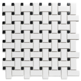 Mozaiek Basketweave geglazuurd Porselein TMF Paris PABW140925