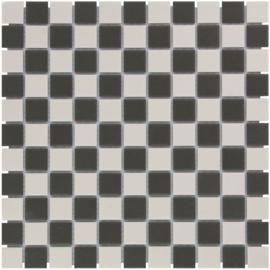 Vloer Mozaiek Dambord Onverglaasd Porselein TMF London LO23102317