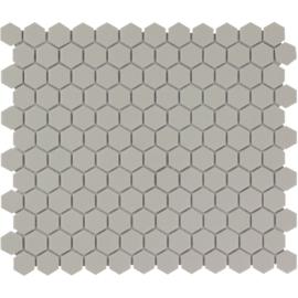 Mozaiek Hexagon Grijs Onverglaasd Porselein 23x26mm TMF London LOH2029