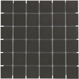 Vloer Mozaiek Zwart Onverglaasd Porselein TMF London LO1017