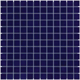Mozaiek Geglazuurd Porselein Donker Blauw  23x23mm TMF Barcelona AF230080
